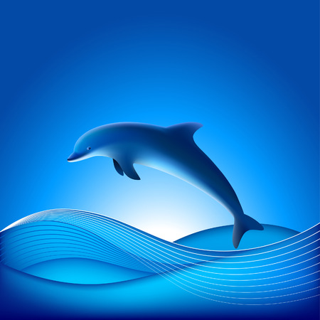 Vector Dolphin - File contains Gradient mesh Stock Vector - 2938391