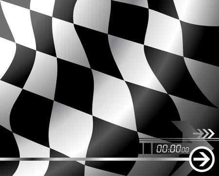 d�part course: Vector le drapeau � damier