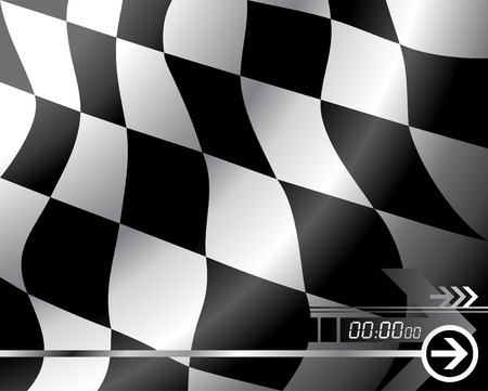 checkered flag: Vettore di bandiera a scacchi