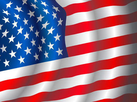 patriots: Vector American flag waving in the wind