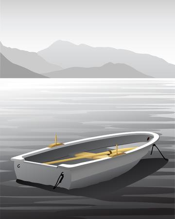 rowboat: Vector bote de remos  Vectores