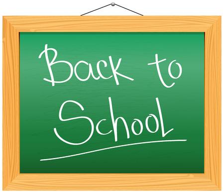 Vector Chalkboard - Back to School Illustration