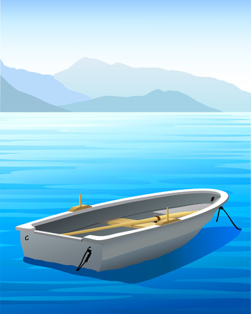 rowboat: Rowboat - Vector Illustration