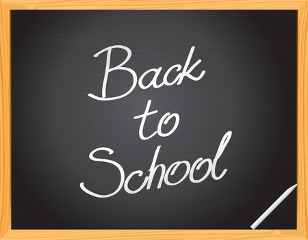 classroom chalkboard: Vector Blackboard -  - Back to School