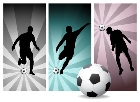 Vector Soccer Players #2 - Easy Change Colors.  Vector