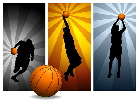dribbling: Vector Basketball Players # 2 Stock Illustratie