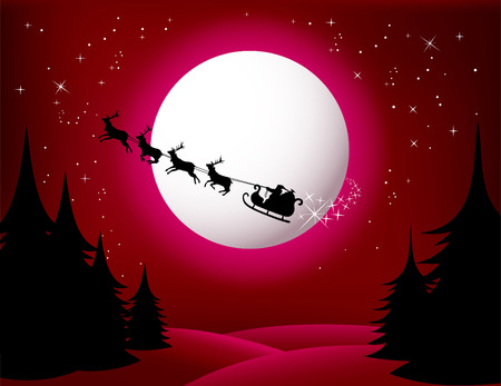 Santa`s Sleigh - vector (red version) check Out My Portfolio For Similar Illustrations ...  Stock Vector - 5656536