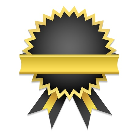 award winning: Vector Golden Badge