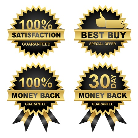money back: Vector Money Back   -Satisfaction - Best Buy - Set of Seals  Eps8