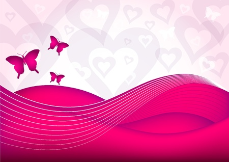 vector valentine background - Eps10 Vector