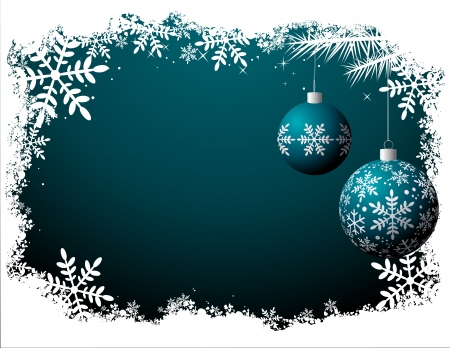 Christmas background - Night scene file - No transparency! Vector