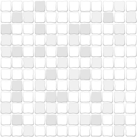 bathroom tile: mosaic tiles, white gray coloring
