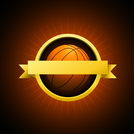 Vector Basketball emblem Vector