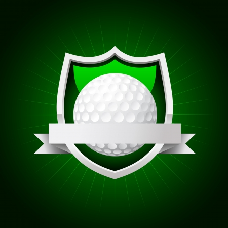 golf emblem  No transparency Vector