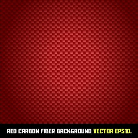 fibra: RED sfondo in fibra di carbonio Vettoriali