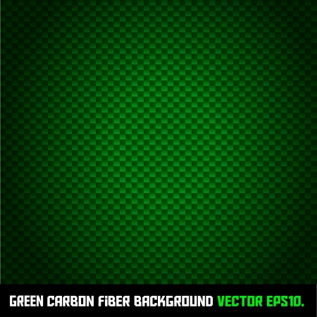 GREEN carbon fiber background Stock Vector - 17461841