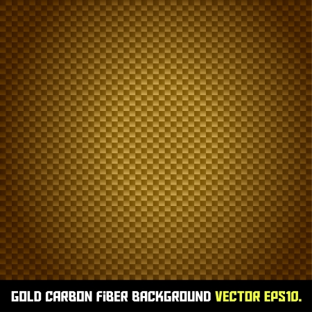 GOLD carbon fiber background Vector