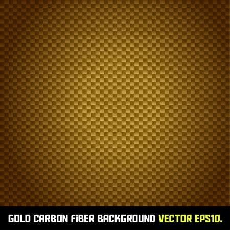 carbon fiber: GOLD carbon fiber background Illustration