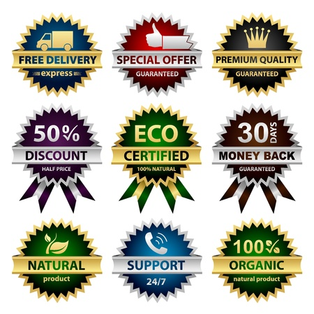 Collection of badges - for sellers Vector
