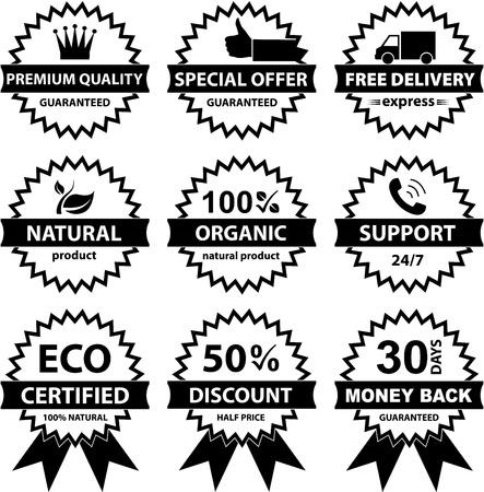 Collection of labels - for sellers  Vector eps8