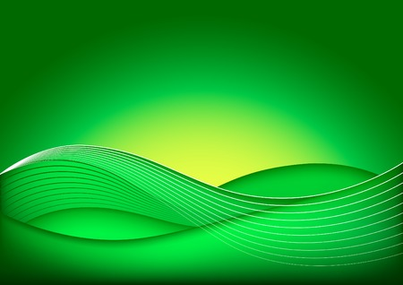 Vector Abstract Green Background  Illustration