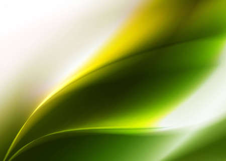 illustrati: Green abstract background with green abstract leaf contours