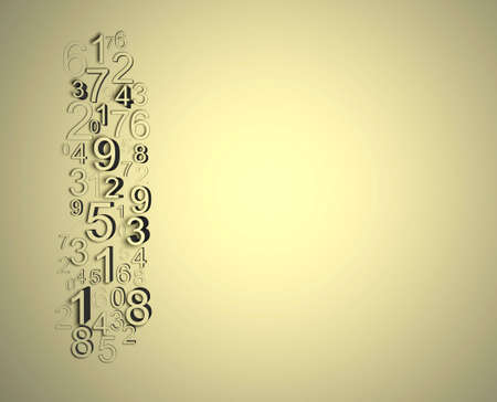 mathematical: Numbers disorder, wall relief nice background full of numbers.