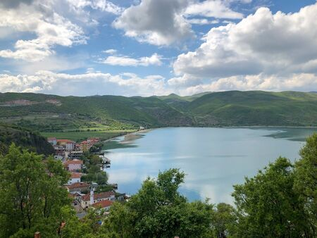 Nice view of the bay at Lin of the Lake Ohrid in Albania