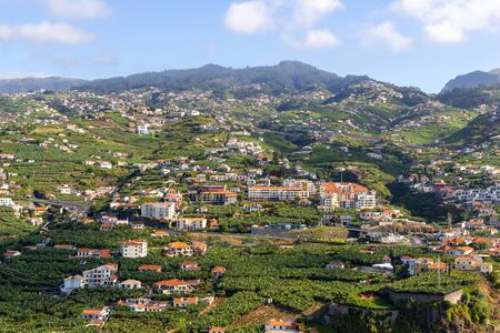 Houses scattered over the mountain near Funchal