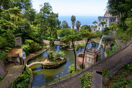 View over Monte Palace Tropical Garden to the ocean 版權商用圖片
