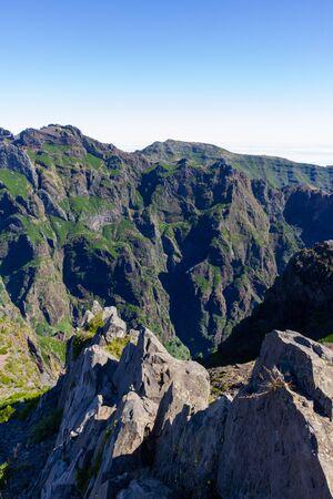 Mountain sight from Pico do Arieiro 版權商用圖片