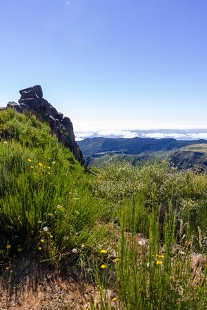 Beautiful view  from Pico do Areeiro, the higest point of Madeira