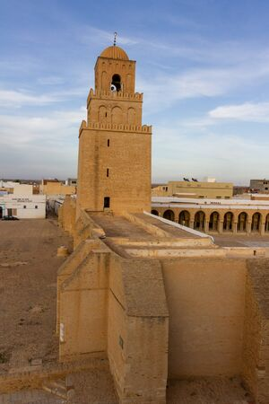 Tower of the Great Mosque of Kairouan (aka the Mosque of Uqba), is a mosque situated in Kairouan, Tunisia and is one of the most impressive and largest Islamic monuments in North Africa.