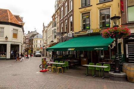 Subway shop in a shopping street in Utrecht