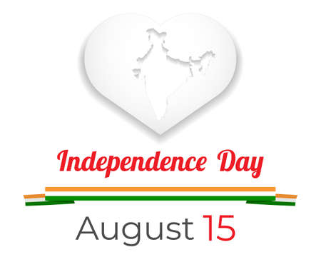 Indian Independence Day concept with text 15th August 矢量图像