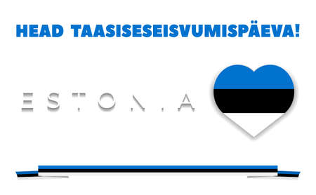 greetings card to the anniversary of Estonia's independence. Vector illustration .