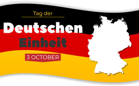 Tag der Deutschen Einheit. 3 october. Germany Independence Day greeting card.Text in German: Day of German unity.