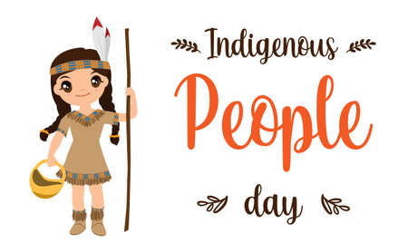 Creative illustration,banner or poster for International Day of the World Indigenous People.