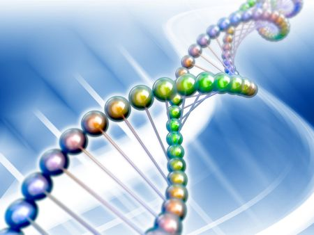 genomes: dna genetic code 3d concept abstract