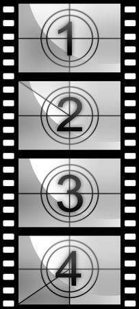 filmroll: Film countdown texture. High resolution image. Movie. Camera. Filmstrip. Stock Photo