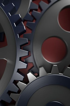 Connection concept. 3d gears. hi res rendering Stock Photo - 3906861