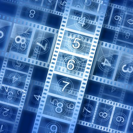 reel: Film strip background. Hi-resolution illustration. Movie theme. Stock Photo