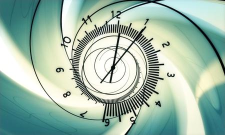 time and clock. hi resolution 3d render.