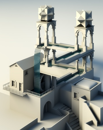 Illusion of reality 3d hi definition rendering