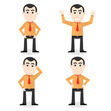 bussines: Cartoon office worker