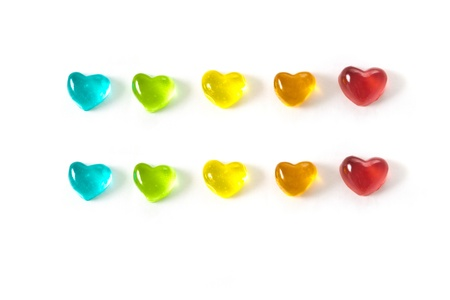 colored heart Stock Photo