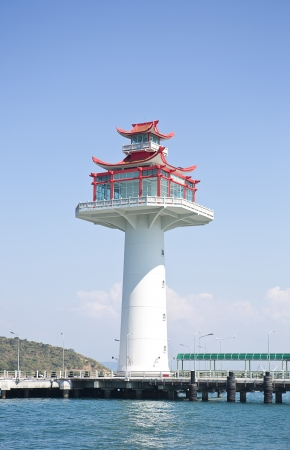 chinese lighthouse Stock Photo