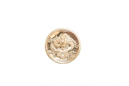 golden dragon coin Stock Photo