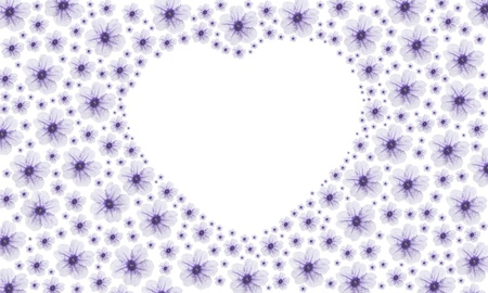 purple vintage heart fower photo