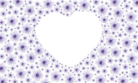 purple vintage heart fower